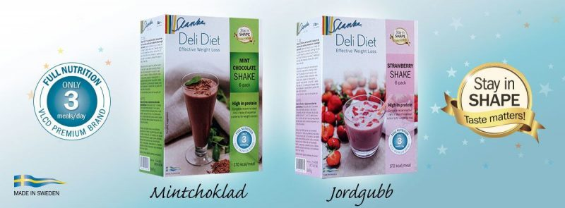 Slanka-VLCD-shake-jordgubb-mintchoklad
