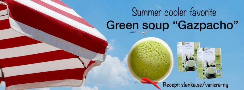 2Sista_Banner Green Gazpacho soup