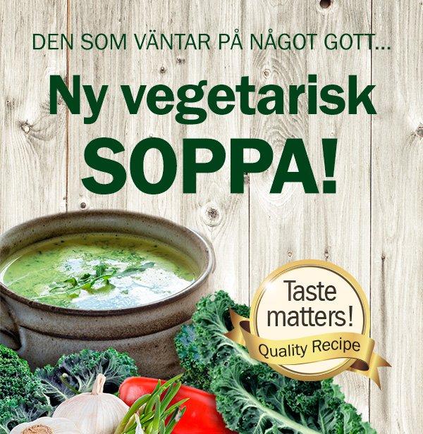 Ny vegetarisk soppa!