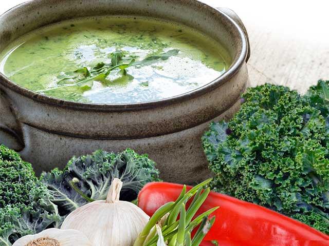 Slanka Deli Diet vegetarisk soppa. Mustig och god kalorisnål soppa.